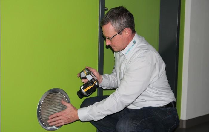 Gebäudedichtheit mittels Luftdichtheitsmessung